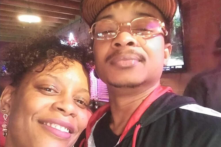 In this September 2019 file selfie photo taken in Evanston, Ill., Adria-Joi Watkins poses with her second cousin Jacob Blake. He is recovering from being shot multiple times by Kenosha police on Aug. 23. (Courtesy Adria-Joi Watkins via AP)