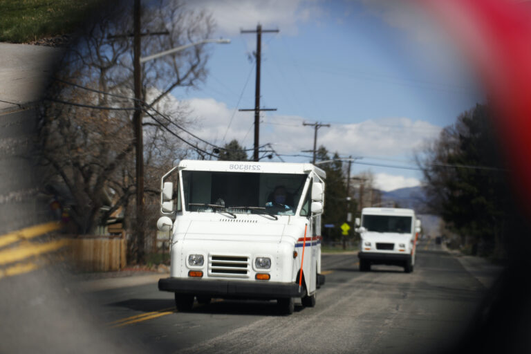 United States Post Office delivery trucks