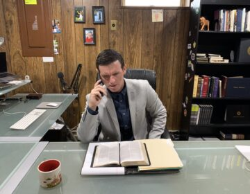 Since hospitals have restricted minister visits due to COVID-19, Pastor Paul Shirley of Grace Community Church has reached out to patients on the phone. (Courtesy of Rebecca Shirley)