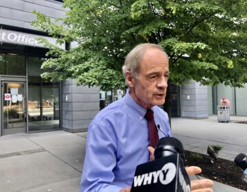 U.S. Sen. Tom Carper, D-Del., acknowledged a technical glitch, not dissatisfaction with the postal service, led him to blurt out a triple F-bomb. (Cris Barrish/WHYY)