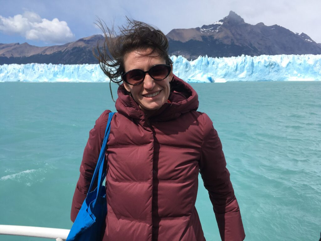 Melissa Mazur is pictured in Patagonia