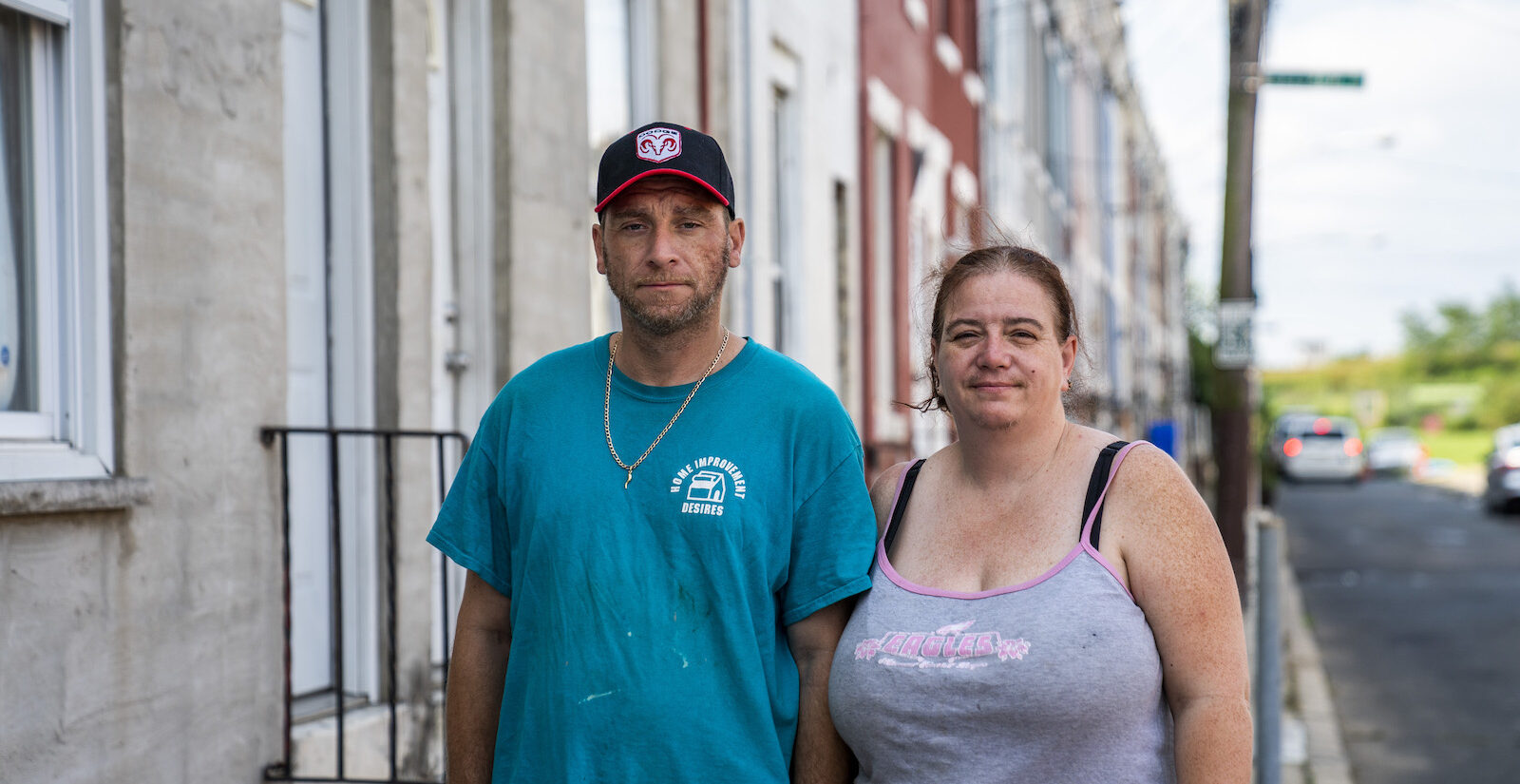 Pennsylvania's eviction moratorium expires Aug 31. Mike Fallaro and Lisa Swinehart have already begun packing and boxing their things, awaiting a threatened eviction that could come the first week their daughters are slated to start virtual school. (Jessica Kourkounis for Keystone Crossroads)