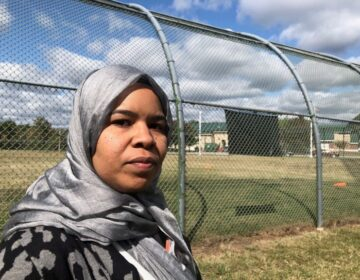 Madinah Brown is one of three former youth detention counselors suing over the agency's hijab ban. (Cris Barrish/WHYY)