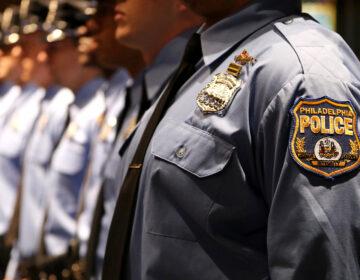 Philadelphia police academy cadets line up for graduation