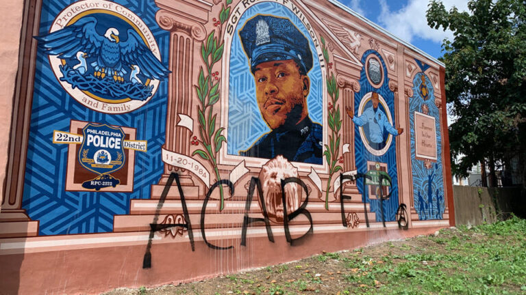 Sgt. Robert Wilson mural vandalized