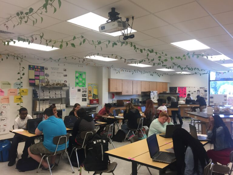 Smyrna High and other public schools in Delaware can open for hybrid learning or remote classes only. (Cris Barrish/WHYY)