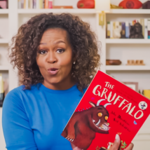 Michelle Obama reading children's book,