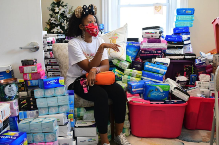 Nya McGlone is the executive director of No More Secrets Mind Body Spirit, Inc., an organization that seeks to address period poverty by providing women in need with free feminine hygiene products. (Abdul R. Sulayman / The Philadelphia Tribune)