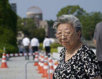 Koko Kondo at Hiroshima Peace Memorial Museum in Hiroshima, Japan,