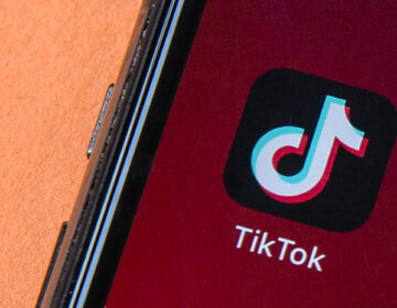 Icon for the smartphone app TikTok, which President Trump on Thursday took aim at through an executive order that prohibits transactions between U.S. citizens and TikTok's parent company in 45 days. (Mark Schiefelbein/AP Photo)