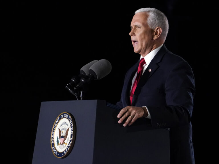 Vice President Pence speaks on the third day of the Republican National Convention