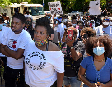 Tawanda Jones is pictured at a Black Lives Matter march