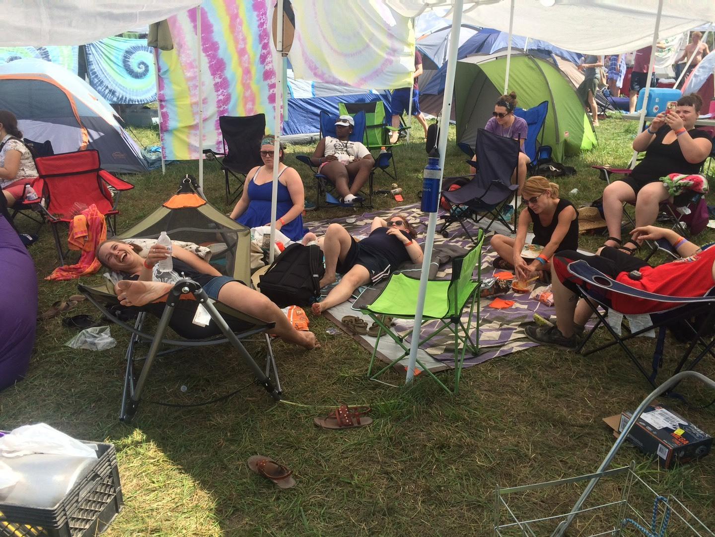 Llama campsite at Philly Folk Fest