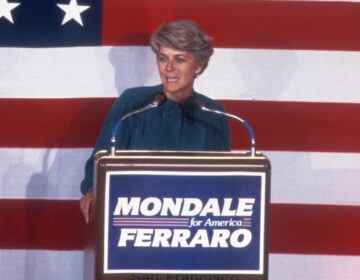 Geraldine Ferraro joined Democrat Walter Mondale's 1984 presidential campaign when he was trailing President Reagan badly in the polls. (Sonia Moskowitz/Images/Getty Images)