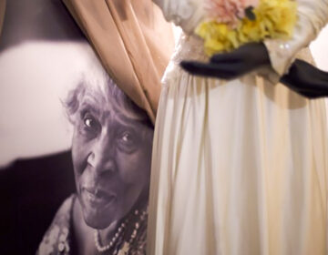 A portrait of Marian Anderson inside the museum