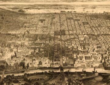 Bird's eye view of Philadelphia, 1857