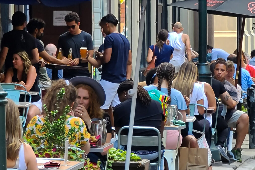 Diners at a Center City restaurant