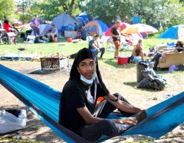 Indigo at the Ridge Avenue encampment