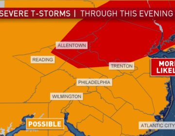 Another round of severe storms is expected Sunday evening
