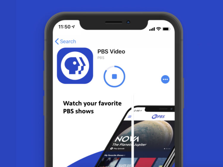Downloading the PBS Video app on your phone