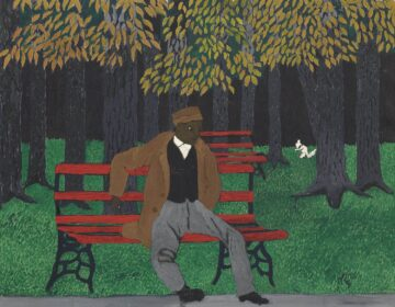 The Park Bench, 1946, by Horace Pippin (American, 1888–1946) (Courtesy of the Philadelphia Museum of Art)
