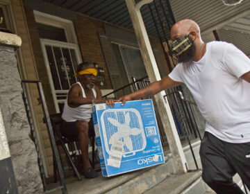 Tayon Whiting delivers fans to residents in need