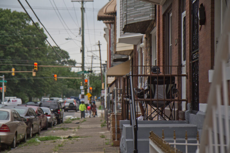 Many blocks in North Philadelphia are not lined with trees and many residents do not have home air conditioning