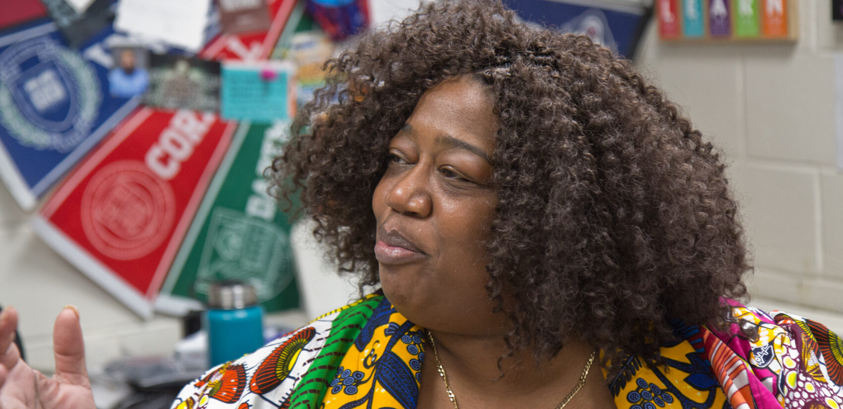 Aliya Cantanch-Bradley is the principal of the Mary McLeod Bethune School in Philadelphia. (Kimberly Paynter/WHYY)