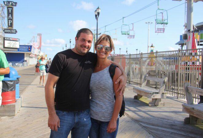 Justin Kramer and Rebecca Smiecinski