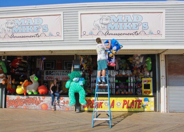 Matt Lonsdale sets up shop at Mad Mike's Amusements