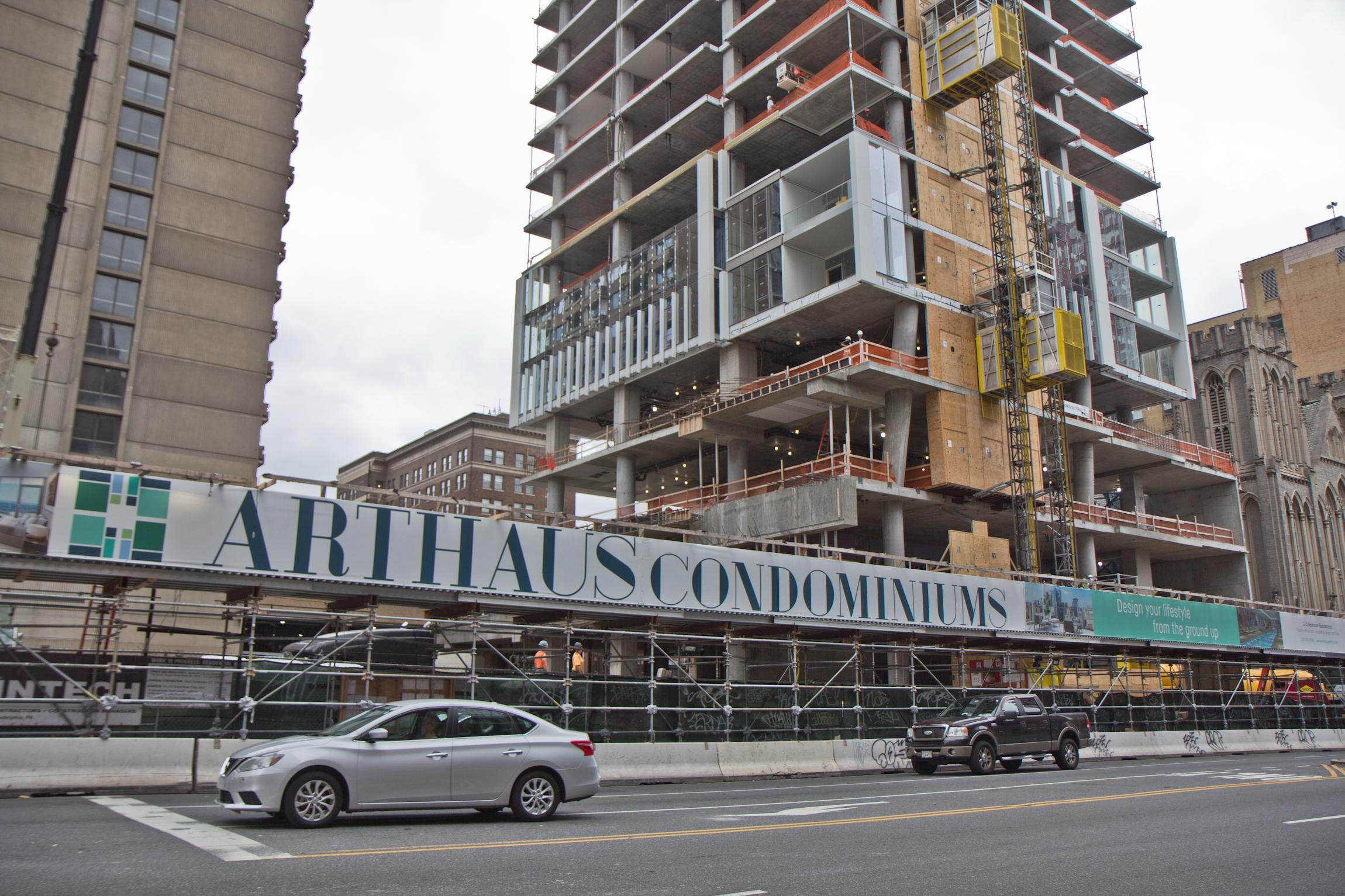 The under-construction Arthaus Condominiums