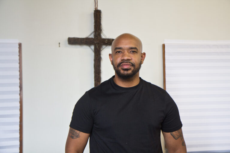 Carl Day is the Pastor of Culture Changing Christians Worship Center in North Philadelphia. (Kimberly Paynter/WHYY)