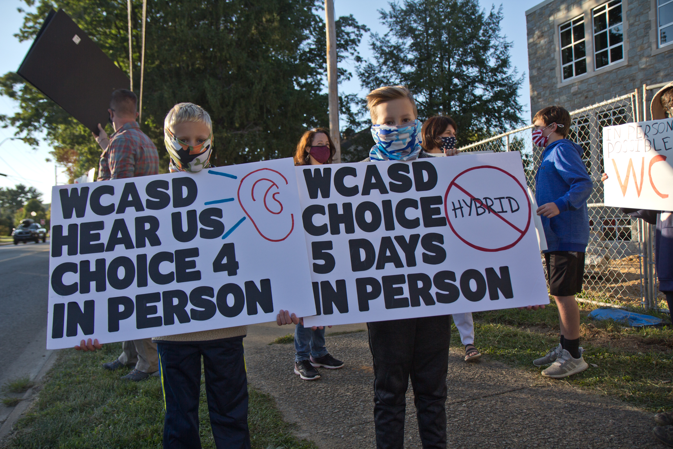 Chester County families rally against virtual school - WHYY