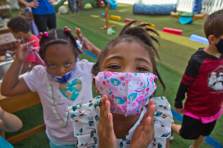 Kids at Today's Child day care in Clifton Heights, Pa.