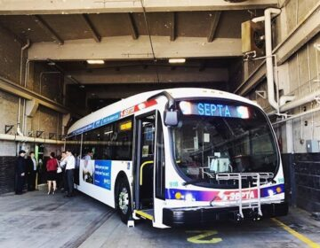 SEPTA has taken its fleet of battery-powered buses out of service due to an issue that the agency hopes the manufacturer will resolve. (Courtesy of SEPTA)