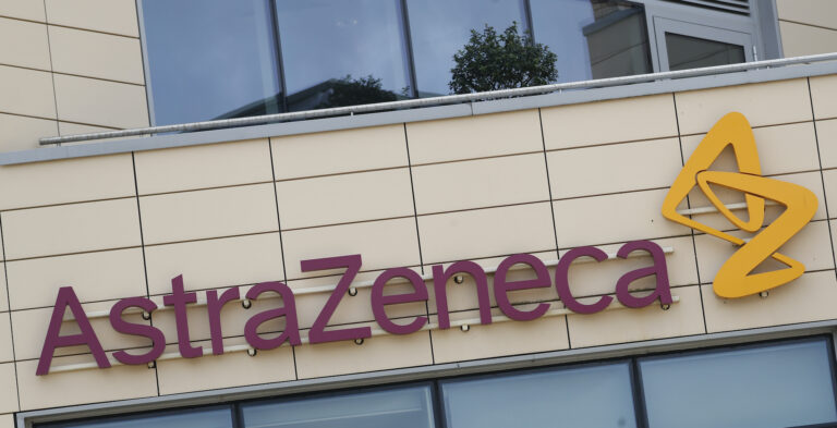 This July 18, 2020, file photo, shows the AstraZeneca offices in Cambridge, England. (AP Photo/Alastair Grant)