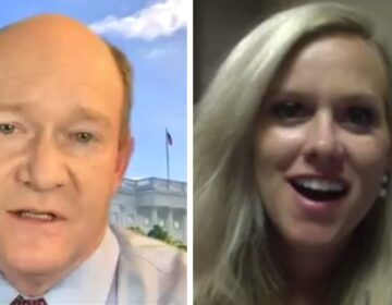 U.S. Sen. Chris Coons and challenger Lauren Witzke
