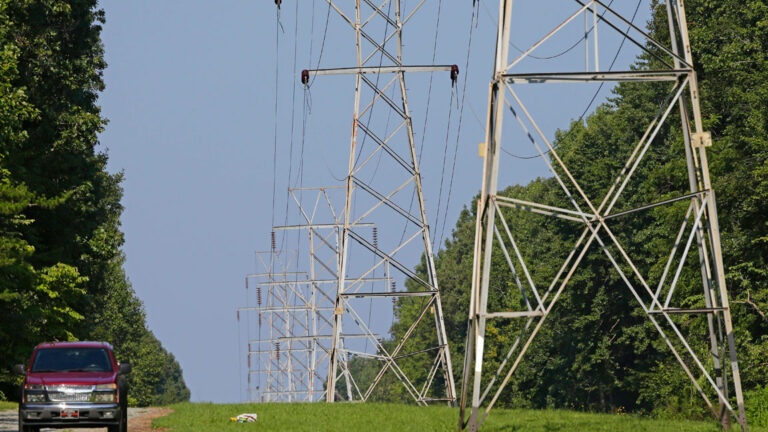 Electric power grid transmission lines