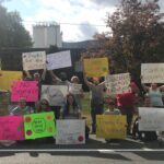 "A protest outside of the Shop-Vac Corp. headquarters in Williamsport, Pa., on Monday, September 28. It was organized through the 'Shop Vac Together We Are Strong' Facebook page."" (Provided by Candice Gair)"