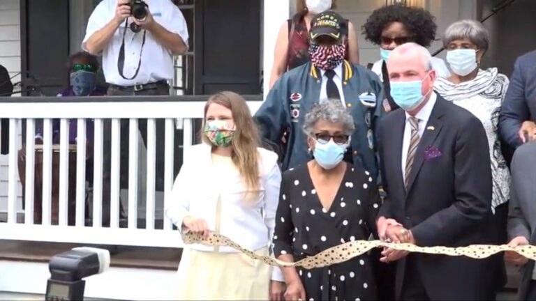 Gov. Phil Murphy was on hand for the ceremony, where he announced that he signed legislation designating the Howell House on Lafayette Street as the official New Jersey Harriet Tubman Museum. (Screenshot)