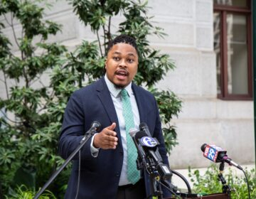 Pa. State Representative Malcolm Kenyatta urges voters to wake-up to voter suppression tactics. (Kimberly Paynter/WHYY)