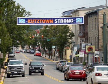 A look down Main Street in Kutztown, Pennsylvania. (Matt Smith for Keystone Crossroads)