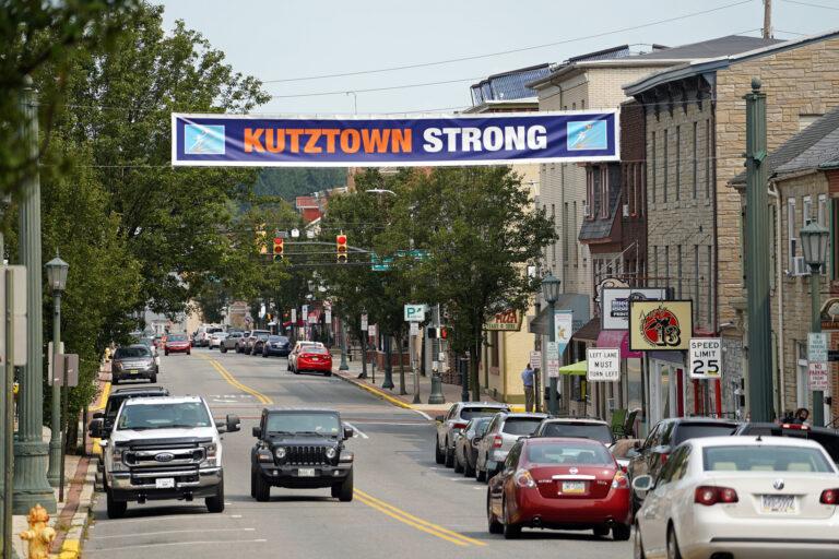 A look down Main Street in Kutztown, Pennsylvania. (Matt Smith for Keystone Crossroads)