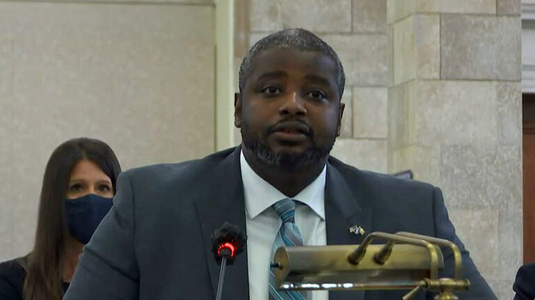 DOC commissioner Marcus Hicks told Senate committee Thursday that department has committed to improving the conditions at Edna Mahan Correctional Facility for Women. (Courtesy of NJ Legislature)