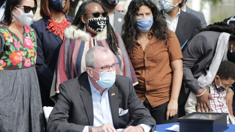 Gov. Phil Murphy signed legislation Friday that requires the Department of Environmental Protection to evaluate environmental and public health impacts of certain facilities on overburdened communities. (Edwin J. Torres/Governor's Office)