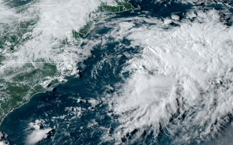 Tropical Storm Omar as seen from the NOAA GOES-East satellite late Tuesday afternoon. (Screenshot)