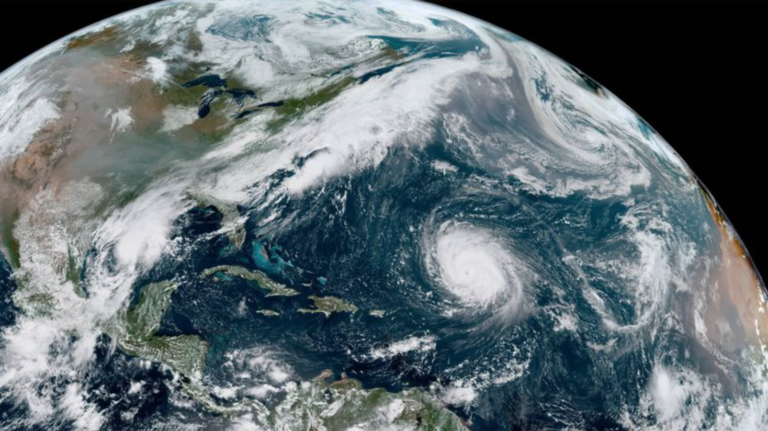 A Friday, Sept. 18 satellite image of tropical activity. (NOAA/GOES)