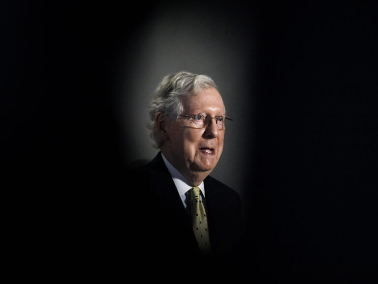 Senate Majority Leader Mitch McConnell will likely preside over the political fight over a vacant Supreme Court seat. (Jacquelyn Martin/AP Photo)