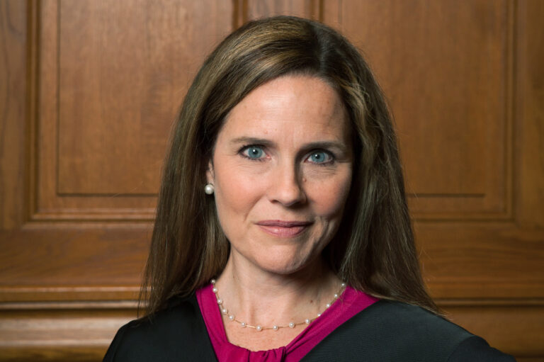 Judge Amy Coney Barrett, pictured in 2018, is seen as a front-runner to replace the late Justice Ruth Bader Ginsburg on the Supreme Court. (Rachel Malehorn, rachelmalehorn.smugmug.com via AP)