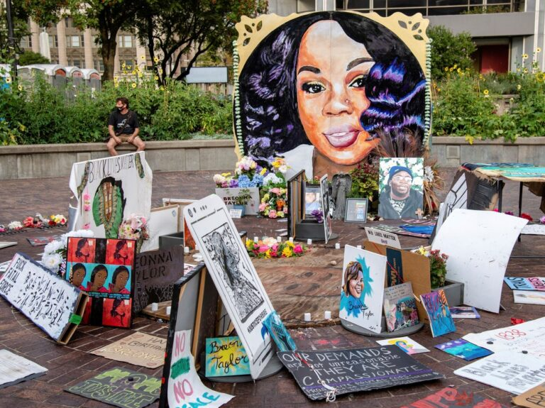 A memorial for Breonna Taylor